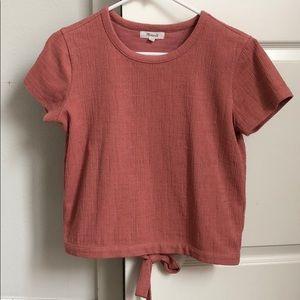 Texture & Thread split/open back shirt